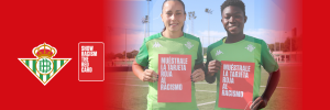 Real Betis Balompié shows Racism the red card